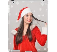 Christmas girl iPad Case/Skin