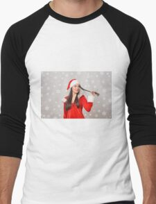 Christmas girl Men's Baseball ¾ T-Shirt