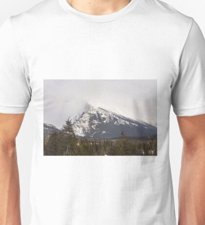 The Canadian Rockies in winter Unisex T-Shirt