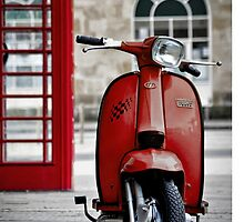 Italian Red Lambretta GP Scooter by AJ Airey