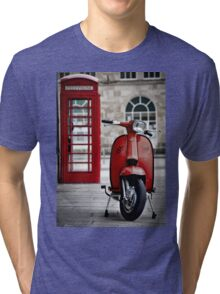 Italian Red Lambretta GP Scooter Tri-blend T-Shirt