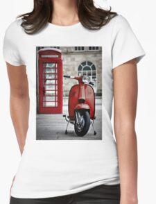 Italian Red Lambretta GP Scooter Womens Fitted T-Shirt