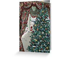 Snowdrop the Maltese - Christmas Morning Greeting Card