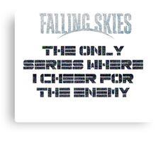 falling skies enemy side Canvas Print