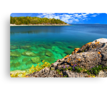 Scenic lake view Canvas Print