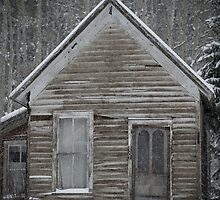 Miner's Cabin in the Rockies by Kat Smith