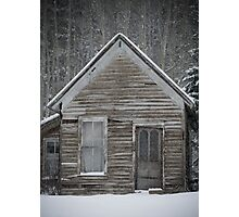 Miner's Cabin in the Rockies Photographic Print