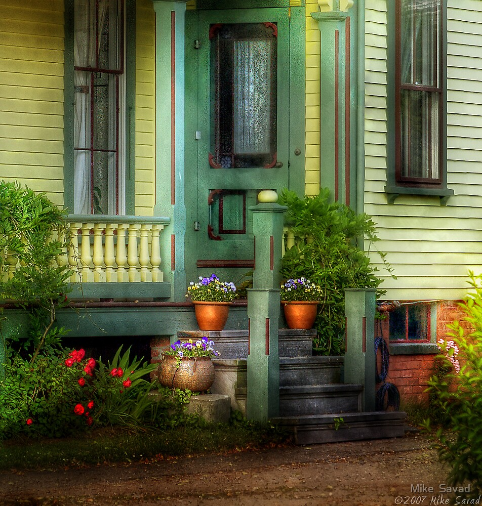 Yellow victorian by Mike  Savad