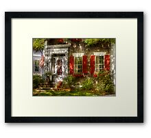 Typical American house Framed Print