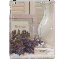 Welcome To The Cottage  iPad Case/Skin