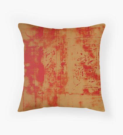 Orange no. 34 Throw Pillow