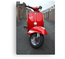 Red Vespa Rally 200 Canvas Print