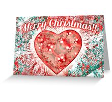 Vintage Colorful Merry Christmas Design Greeting Card