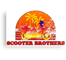 Scooter Brothers Canvas Print
