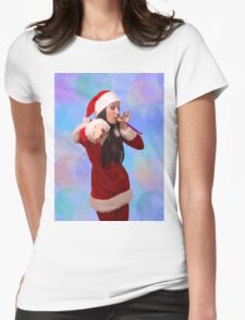 Christmas girl Womens Fitted T-Shirt