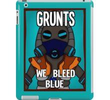 Grunts: We Bleed Blue iPad Case/Skin