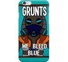 Grunts: We Bleed Blue iPhone Case/Skin