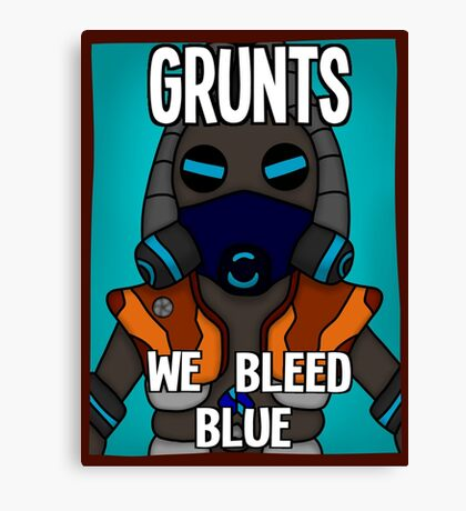 Grunts: We Bleed Blue Canvas Print