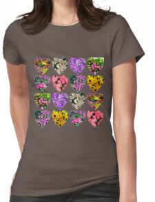 WONDERFUL WILD FLOWERS Womens Fitted T-Shirt