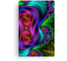 Green Leaf Fractal  Canvas Print