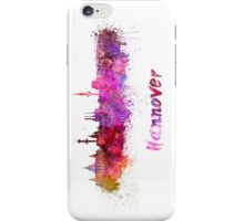 Hannover skyline in watercolor iPhone Case/Skin