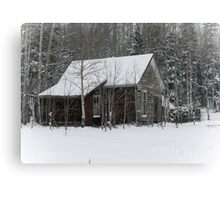 Cabin in the Woods - Colorado Hermit Home Canvas Print