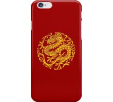 Traditional Yellow Chinese Dragon Circle iPhone Case/Skin