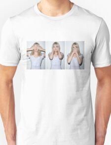 emma stone see/hear/speak no evil T-Shirt