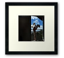 Dance on the balcony Framed Print