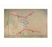 Feynman Diagram Art Print
