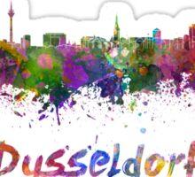 Dusseldorf skyline in watercolor Sticker