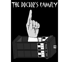 The Doctor's Family (Black and White) Photographic Print