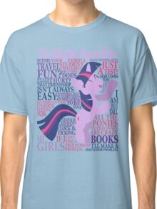 The Many Words of Twilight Sparkle Classic T-Shirt