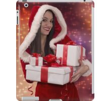 Christmas girl with gift iPad Case/Skin