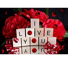 Love Red Bubble Photographic Print
