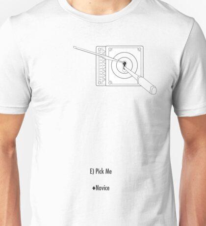 Skyrim Lockpick - Novice Unisex T-Shirt