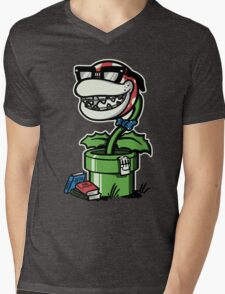 Piranha Braces Mens V-Neck T-Shirt