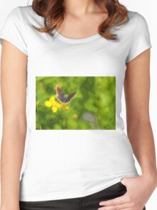 Artwork - Brown Argus Women's Fitted Scoop T-Shirt