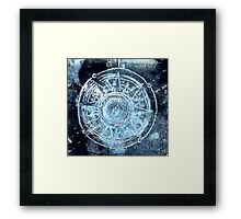 Polar bear, starry skies compass Framed Print