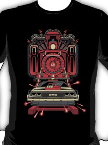 BTTF Back To The Future III Time Machine Delorean with Train T-Shirt