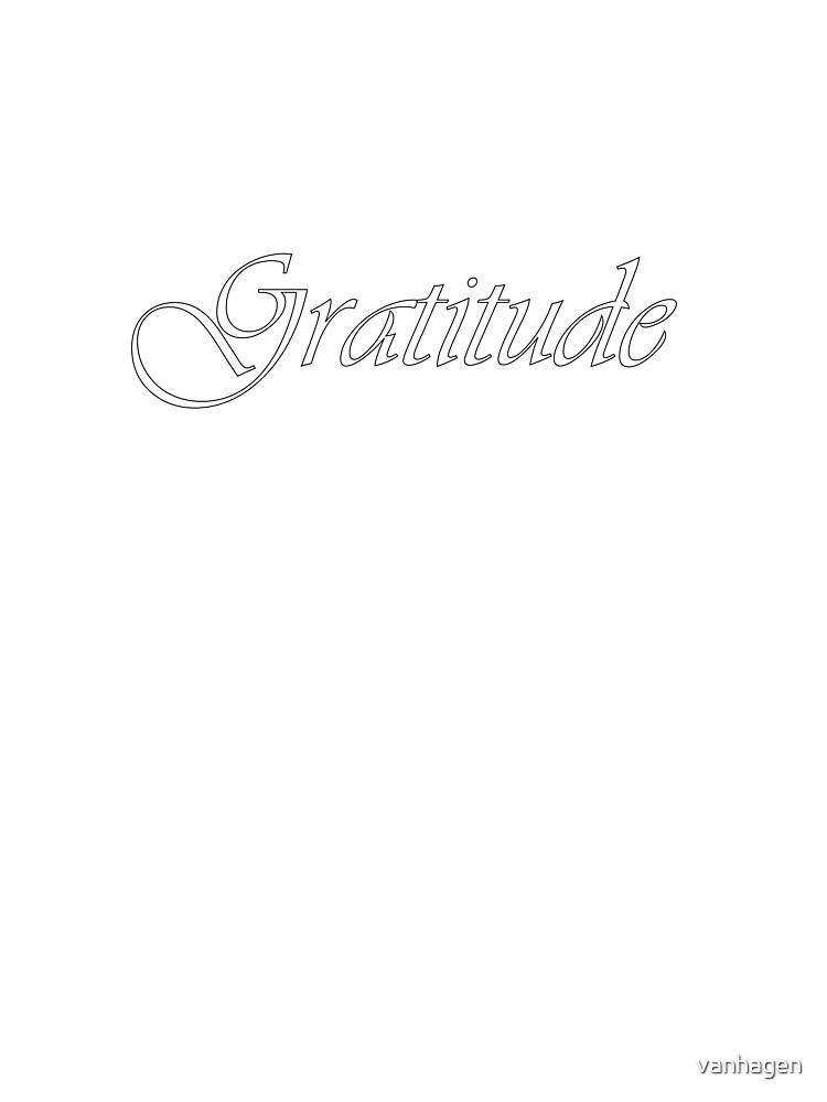 gratitude by vanhagen