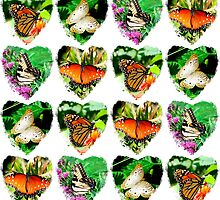 ROMANTIC BUTTERFLY PHOTO COLLAGE by JLPOriginals