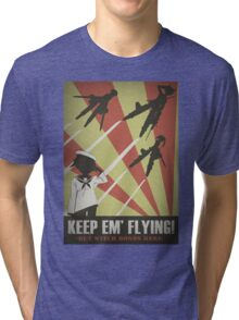 Strikers: Keep Em' Flying Tri-blend T-Shirt