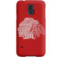 Chicago Blackhawks Team Tee Samsung Galaxy Case/Skin