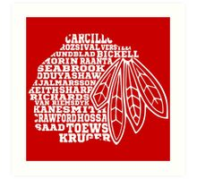 Chicago Blackhawks Team Tee Art Print