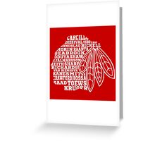 Chicago Blackhawks Team Tee Greeting Card