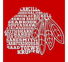 Chicago Blackhawks Team Tee Photographic Print