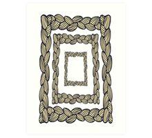 pigtail ornament Art Print