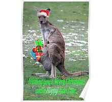 Merry Christmas and a 'Hoppy' New Year Poster