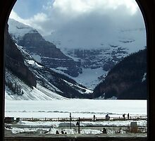 Snow Covered Lake Louise by Martha Medford